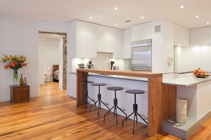 natural wooden kitchen floor as well as breakfast bar american style kitchen
