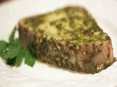 Chimichurri Sauce Baked Tuna Steaks Recipe Video by TheFoodLovers | ifood.tv
