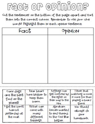 Fact vs. Opinion: Opinion Sorting, Free Facts, Classroom Freebies, Facts And Opinion Lessons, Facts Or Opinion, Opinion Activities, Facts Opinion, Fact And Opinion, Opinion Freebies