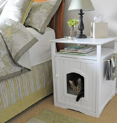 Cat bedCat Beds, Pets Beds, Problems Solving, Kitty Beds, Home Organic, End Tables, Bedside Tables, Night Stands, Cat House