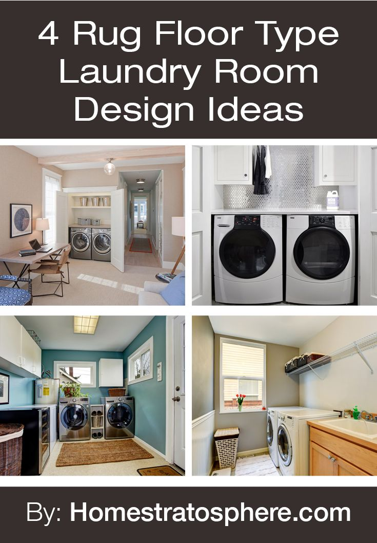4 Rug Floor Type Laundry Room Design Ideas