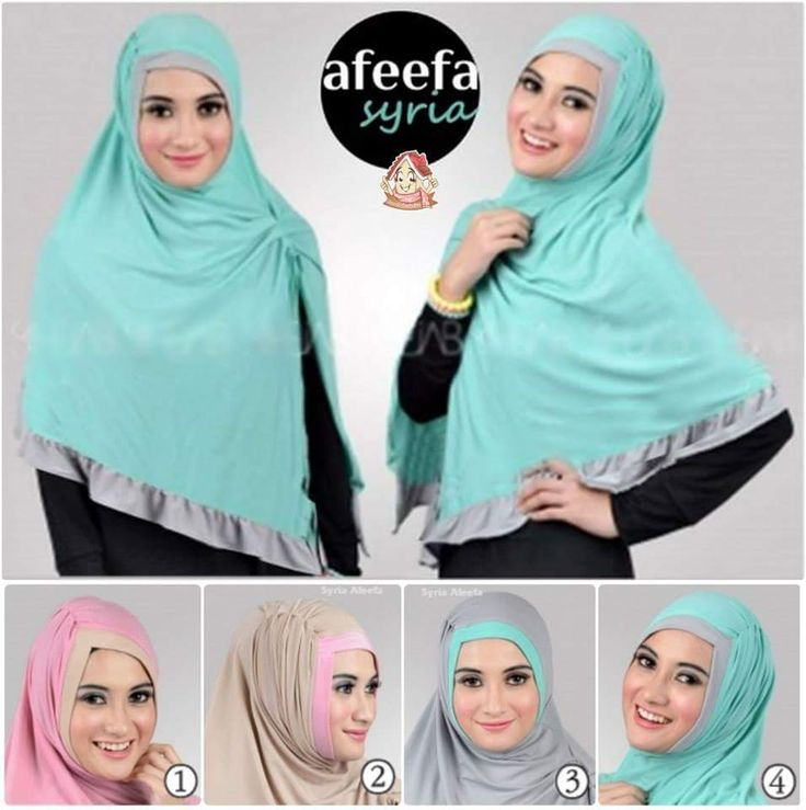 Hijab Syar;i Afeefa.  Bahan : spandek jersey
