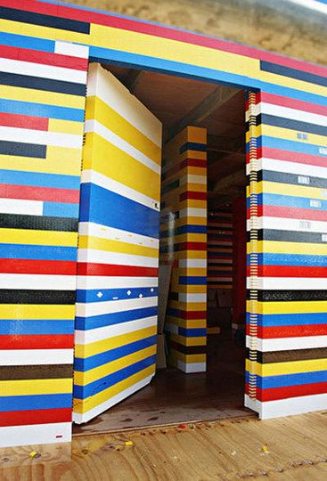Doorway - James May used over 2 million bricks and 1200 volunteers to build a life-size lego house in Surrey, England.