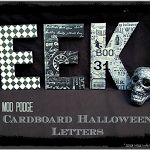 Mod Podge Halloween Letters