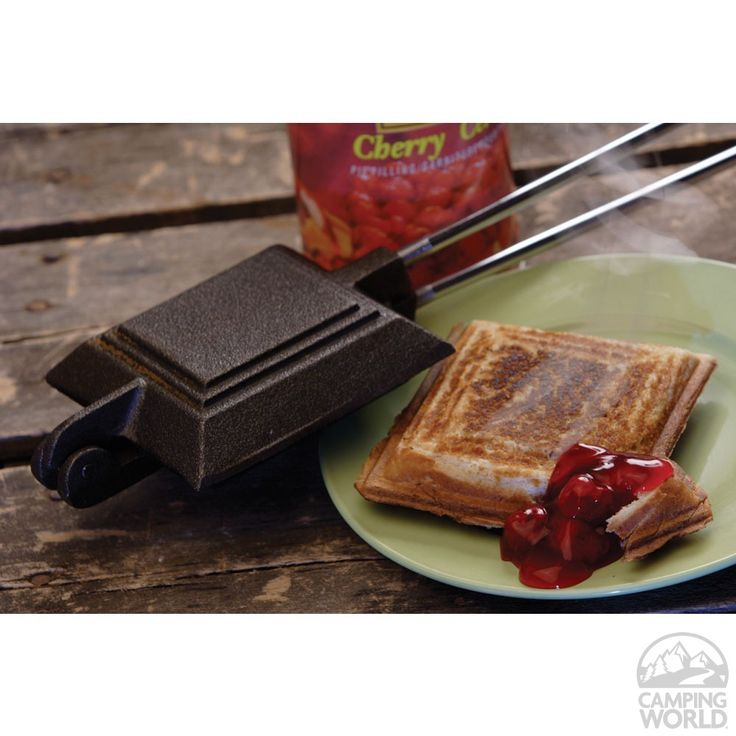 Cast Iron Camp Cooker - has the crimper around the edges. I remember making these little cherry pies while camping as a kid.