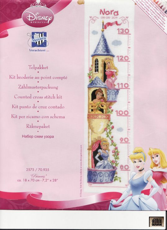 Disney Princesses Height Chart 1/10