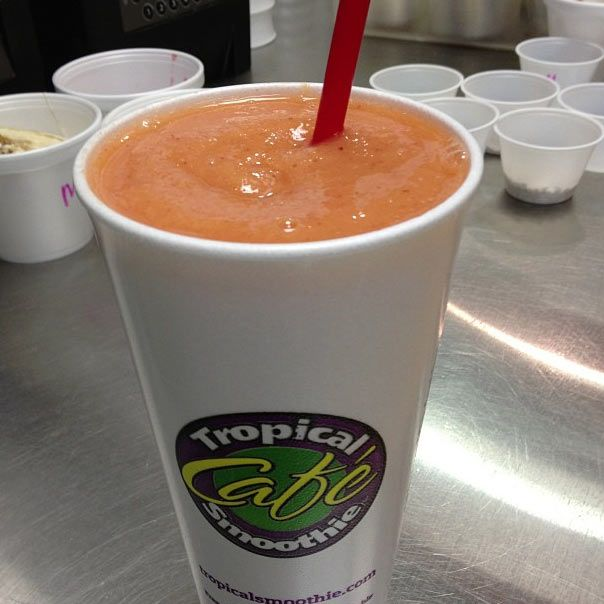 Sunrise, Sunset smoothie from Tropical Smoothie in Winston-Salem