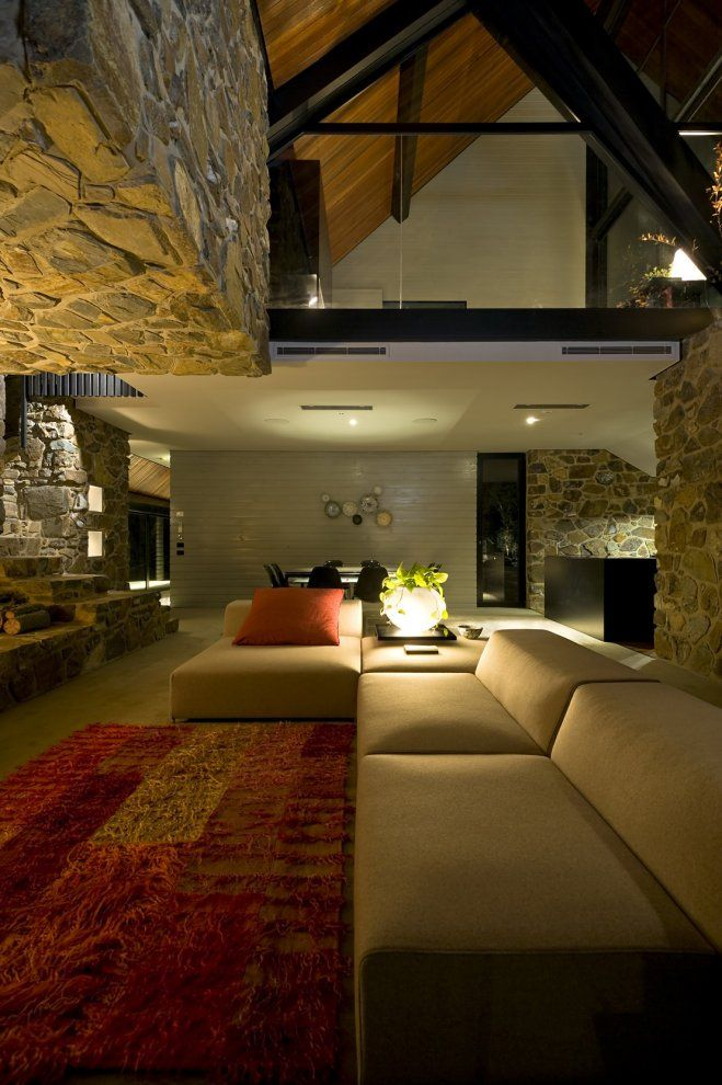 Under the Moonlight House: Giovanni Dambrosio, Living Rooms, House Design, Interiors Wall, Home Interiors, Moonlight House, Stones Wall, Interiors Design, Design Home
