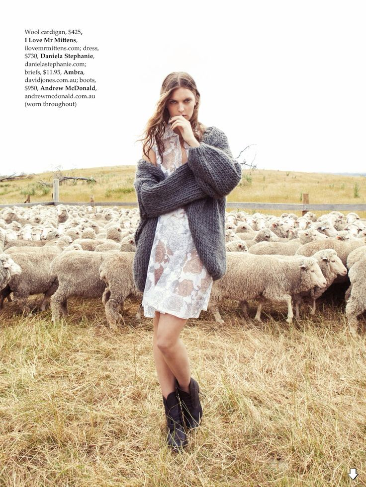 visual optimism; fashion editorials, shows, campaigns & more!: country strong: gertrud hegelund by stefania paparelli for elle australia april 2014:
