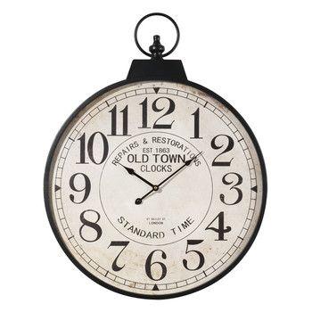 Orologio in metallo a forma di orologio da taschino D 60 cm VINTAGE