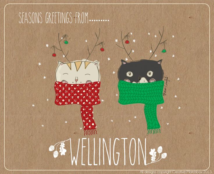 Seasons Greetings from Lexie and Gandalf in Wellington NZ! - with Creative Matchbox