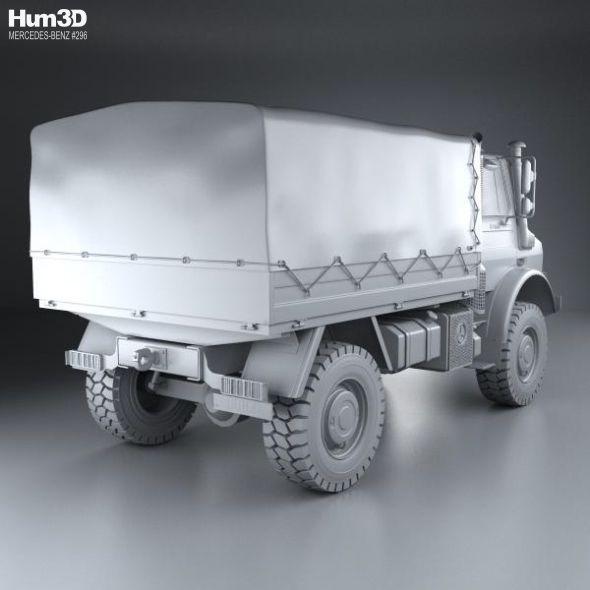 Mercedes-Benz Unimog U4000 Flatbed Canopy Truck 2000 ...