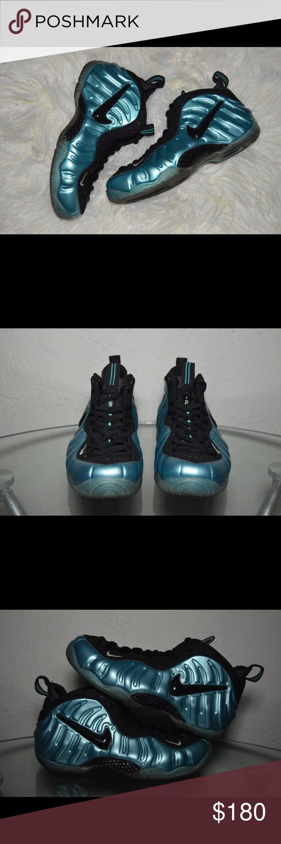 "Nike Air Foamposite Pro ""Electric Blue"" Size 9 100% Authentic  Preowned and in Great condition! Comes in a replacement box! Released in 2011! Gets shipped out after purchase is made! Nike Shoes Sneakers"