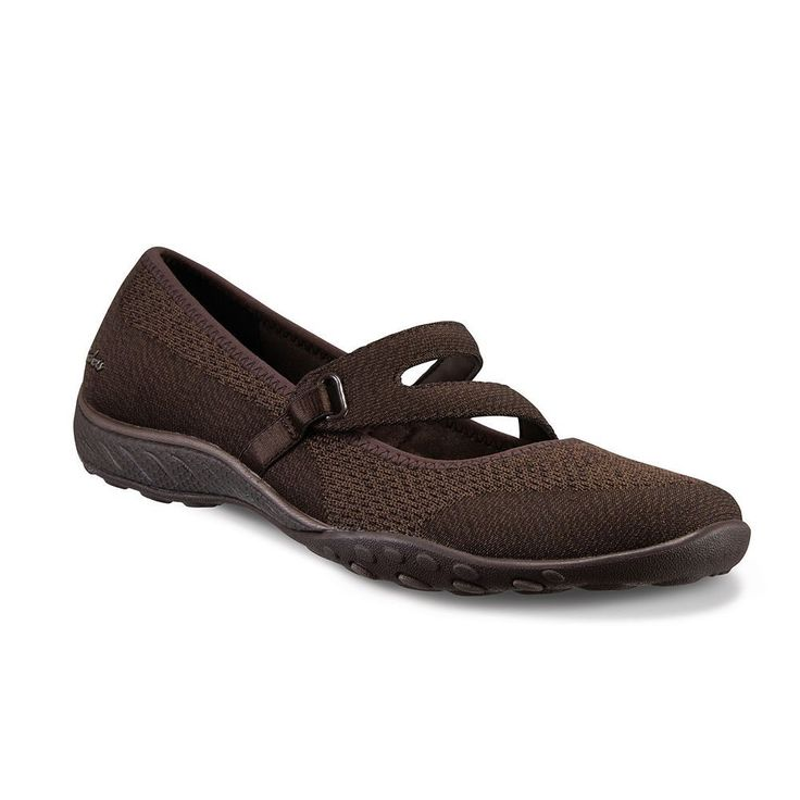 Skechers Relaxed Fit Breathe Easy Lucky Lady Women's Mary Jane Shoes, Size: 6.5, Brown