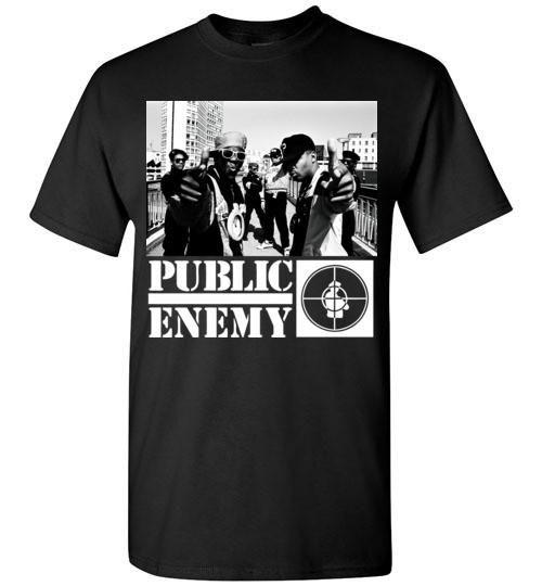 Public Enemy, Chuck D, Flavor Flav,Terminator X, Classic Hip Hop , Gildan Short-Sleeve T-Shirt , v1