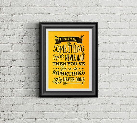 Printable Wall Art  If You Want Something  Quote by Majesthink