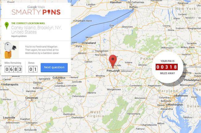 Google Maps lanza un juego de trivia llamado Smarty Pins