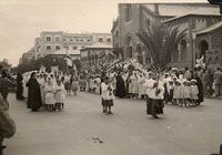 On June 17 1954 The Catholic Community had a Procession for the Feast of Corpus Christi