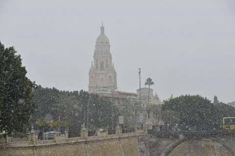 Nieve en Murcia 18/1/2017