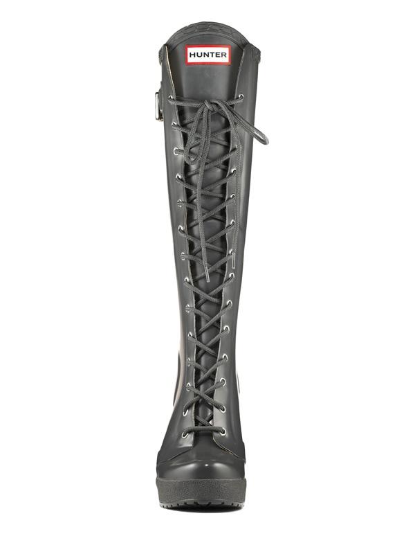 Womens Tall Lace Up Rain Boots | Fashion Boots | Hunter Boot Ltd