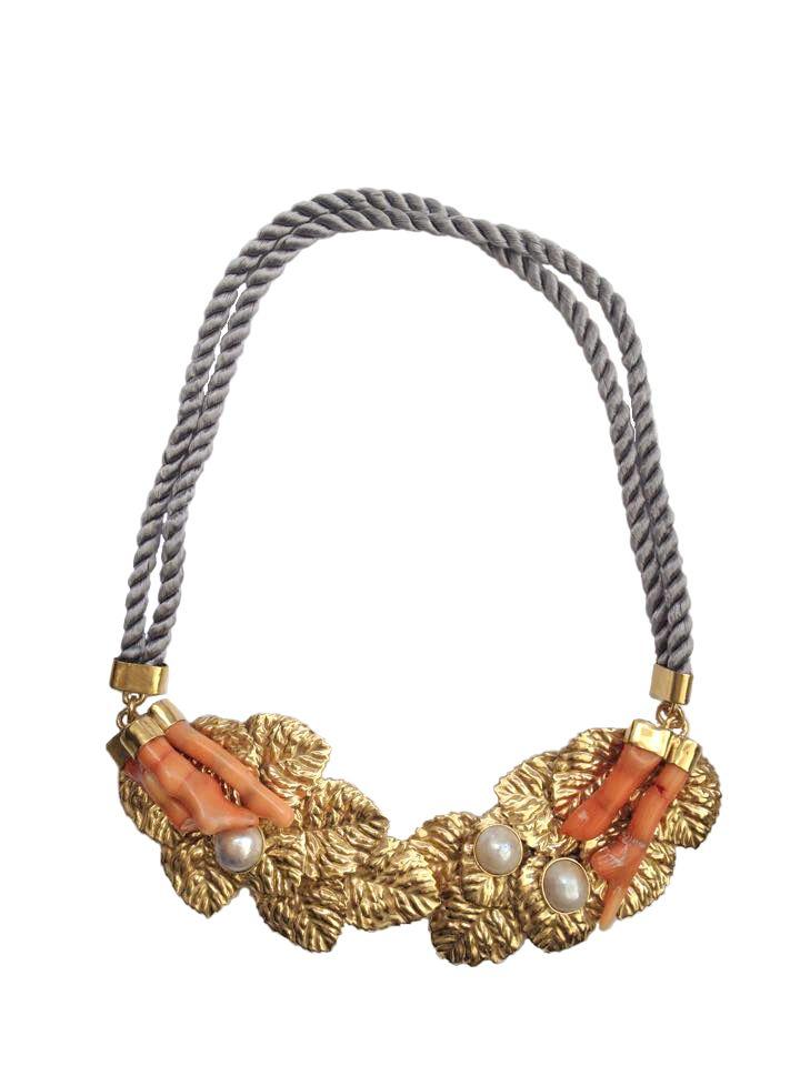 Carolina Curado Orange Coral Necklace http://www.carolinacurado.com/