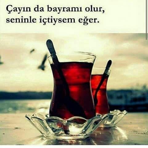 Çayın da bayramı olur senle içtiysem eğer. - Ali Şahin #sözler #anlamlısözler…