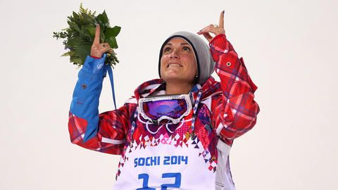 Marie Martinod: b. 1984; Martinod is a skier from France.  She won a silver medal for Ladies' Ski Halfpipe.