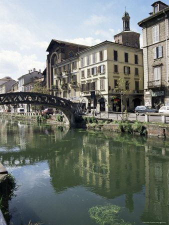 Canal at Porta Ticinese, Naviglio Grande #Milan #Lombardy #Italy