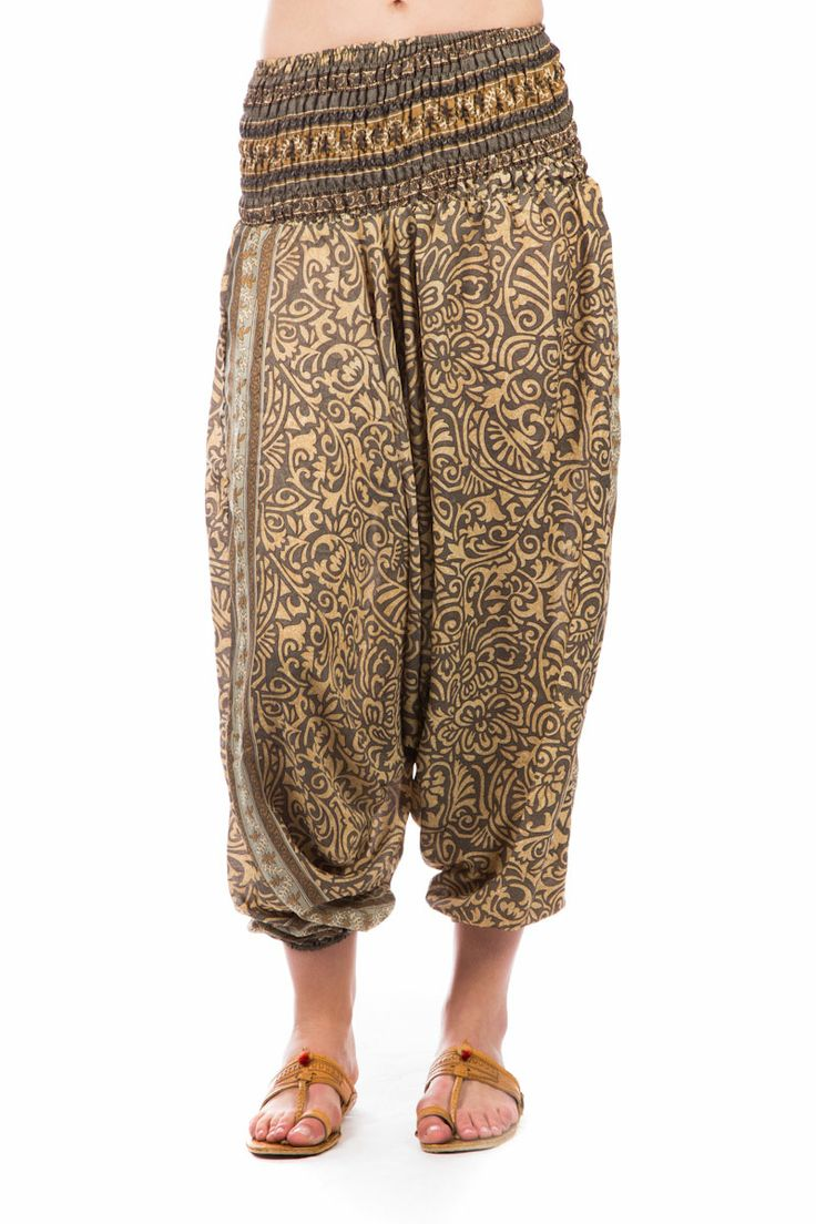 Ali Baba Recycled Silk Sari Pants