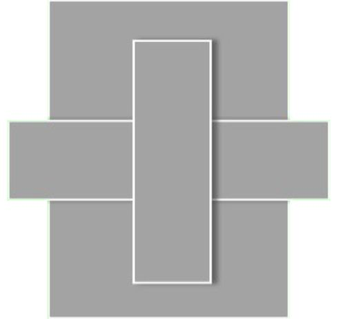 Official Symbol of the City of Spartanica.  Three interlocking rectangles represent the unity of each central city:  Spartanica, Atlantis, and Lemuria.