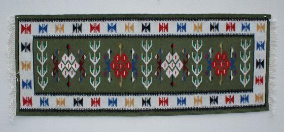 Covor din lana, traditional romanesc, Dambovita