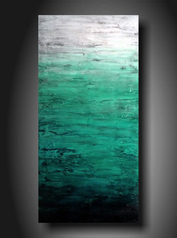 """DIY art idea: Great colors and texture in this """"ombre"""" painting"""