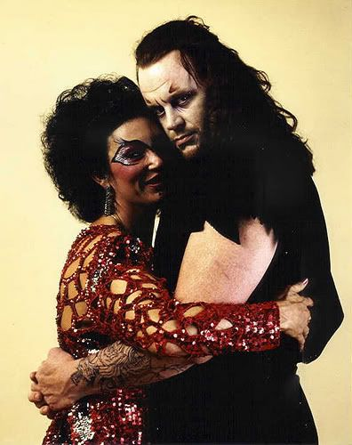 "The Undertaker Hugging ""Sensational"" Sherri Martel"