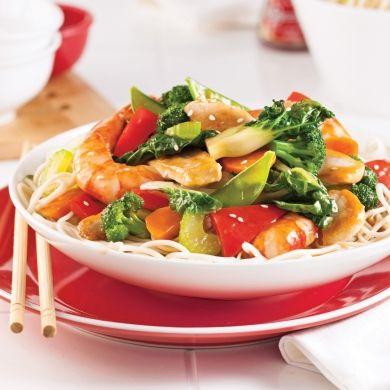 Chow mein cantonais - Recettes - Cuisine et nutrition - Pratico Pratique