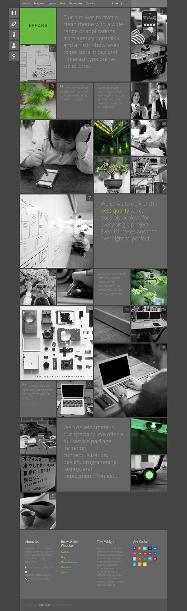 Ikebana - WP Portfolio Theme on Behance