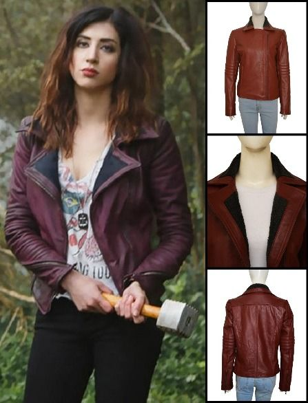 f0d67ee7468 This is Dana DeLorenzo Kelly Maxwell Ash vs Evil Dead Leather Jacket ...