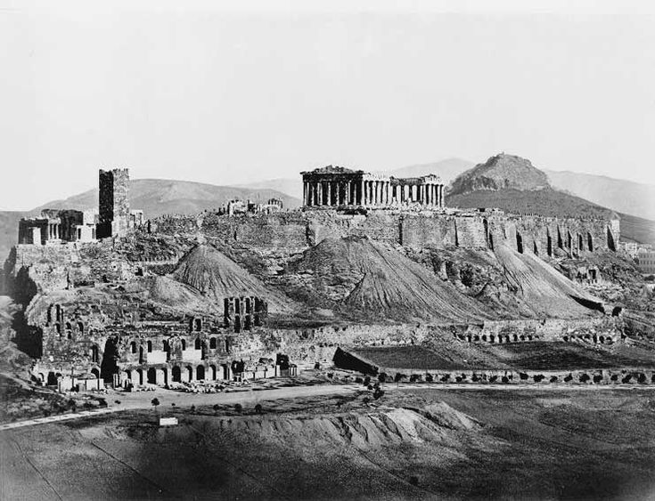 How to see without a camera | by Filippos Margaritis Acropolis, Athens, 1865.