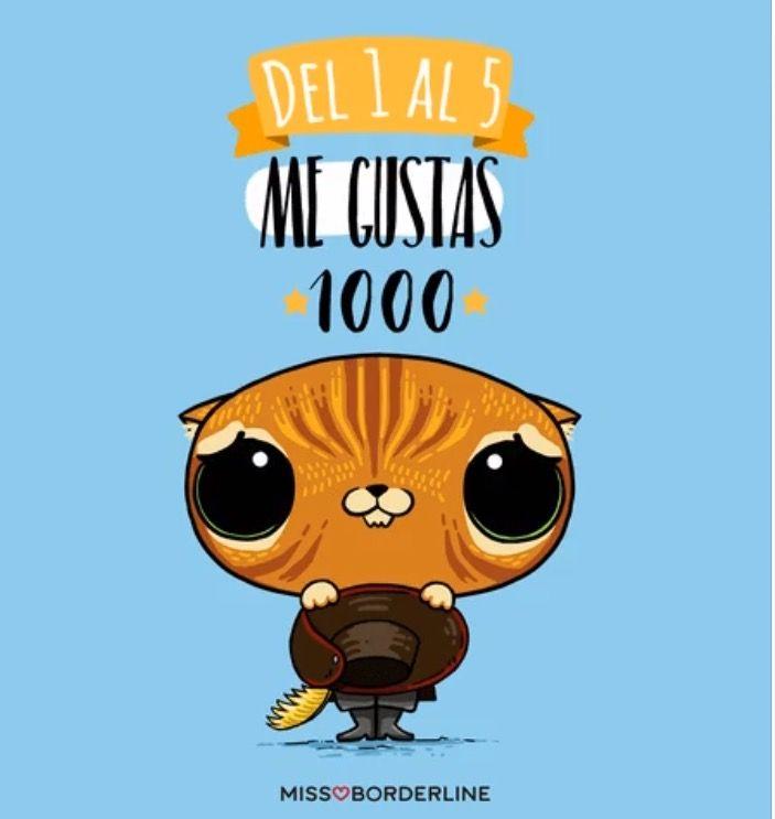 Del 1 al 5 me gustas 1000! #missborderline #humor #gatoconbotas