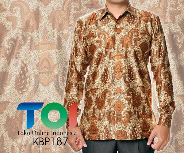 Batik Elegan Semi Sutra dengan Kode KBP187, merupakan batik printing yang terbuat dari bahan semi sutra dengan jahitan yang rapih. Pada bagian dalam kemeja terdapat furing yang terbuat dari bahan katun. Harga untuk kemeja batik kode 187 ini adalah Rp.475.000