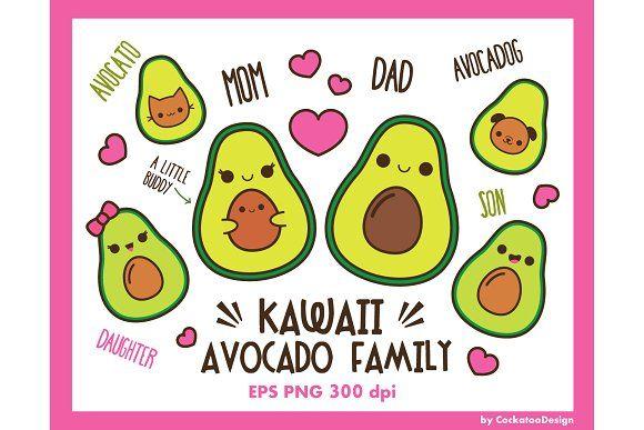 Kawaii Avocado Family S Izobrazheniyami Legkie Risunki Idei Dlya