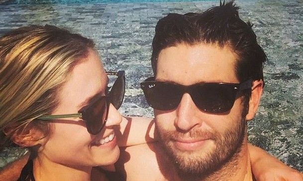 Celebrity Vacations: Kristin Cavallari and Jay Cutler Get Cozy in Pool Pics.  Where are some affordable beach vacations you can take your significant other? #celebrityvacations #kristincavallari #jaycutler #pool