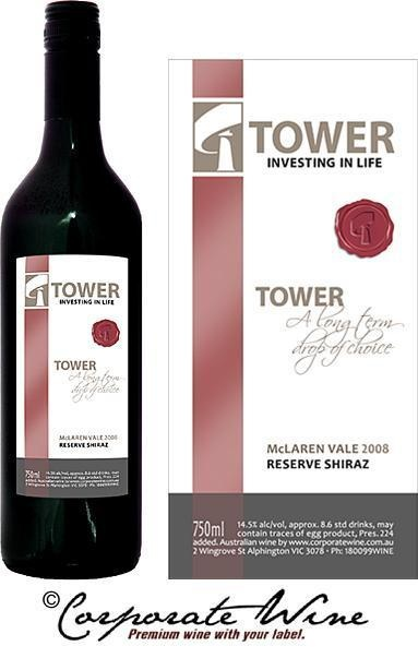 Platinum Range McLaren Vale 2010 Reserve Shiraz was  the wine chosen by this Investment business for the Custom Designed  Labels created especially by Corporate Wine.