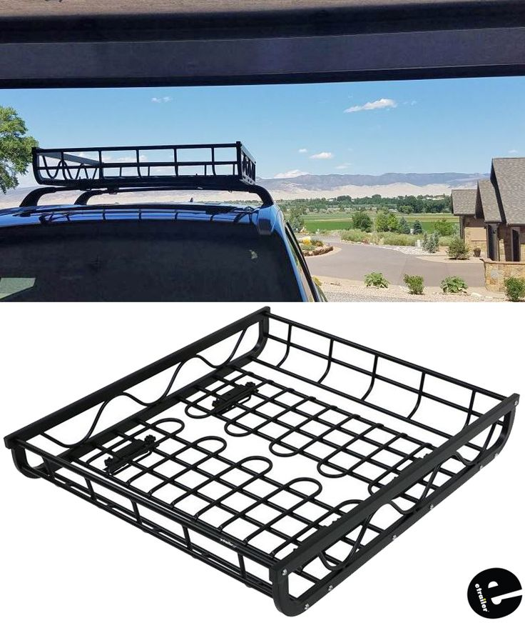 "Aluminum Roof Mounted Cargo Basket 44"" Long x 39"" Wide x"