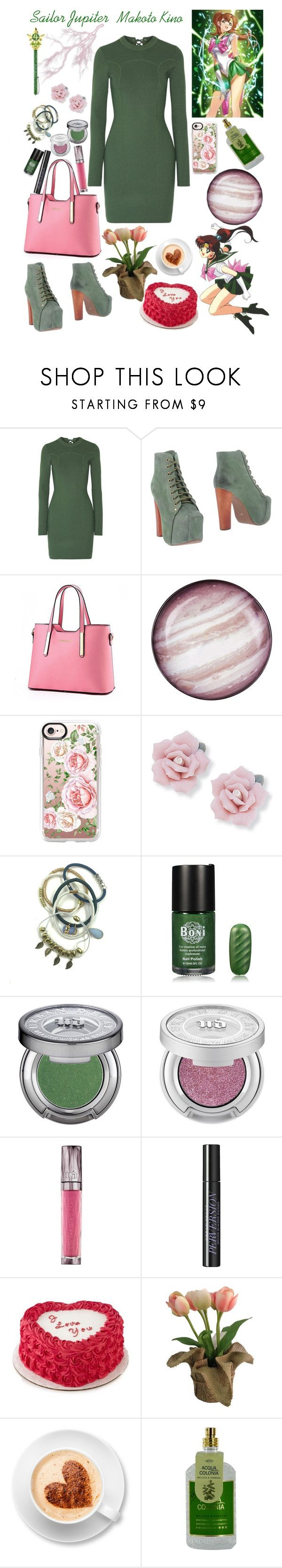 """""""Sailor Jupiter / Makoto Kino"""" by lexisamskywalker on Polyvore featuring 3.1 Phillip Lim, Jeffrey Campbell, Seletti, Casetify, Palm Beach Jewelry, Mixit, Urban Decay, SONOMA Goods for Life and 4711"""