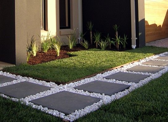 Walking path backyard pinterest happenings river for Paving designs for small garden path