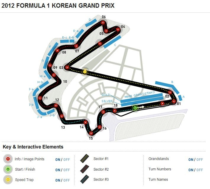 Formula 1 Korean Grand Prix Circuit Map