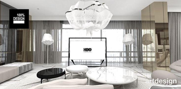 ON TOP OF THE WORLD   Wnętrze apartamentu - projekt salonu