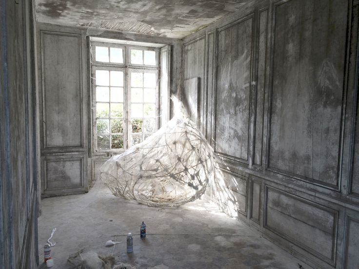 Petrified cocoon. Installation for Sandrine Philippe visuals.