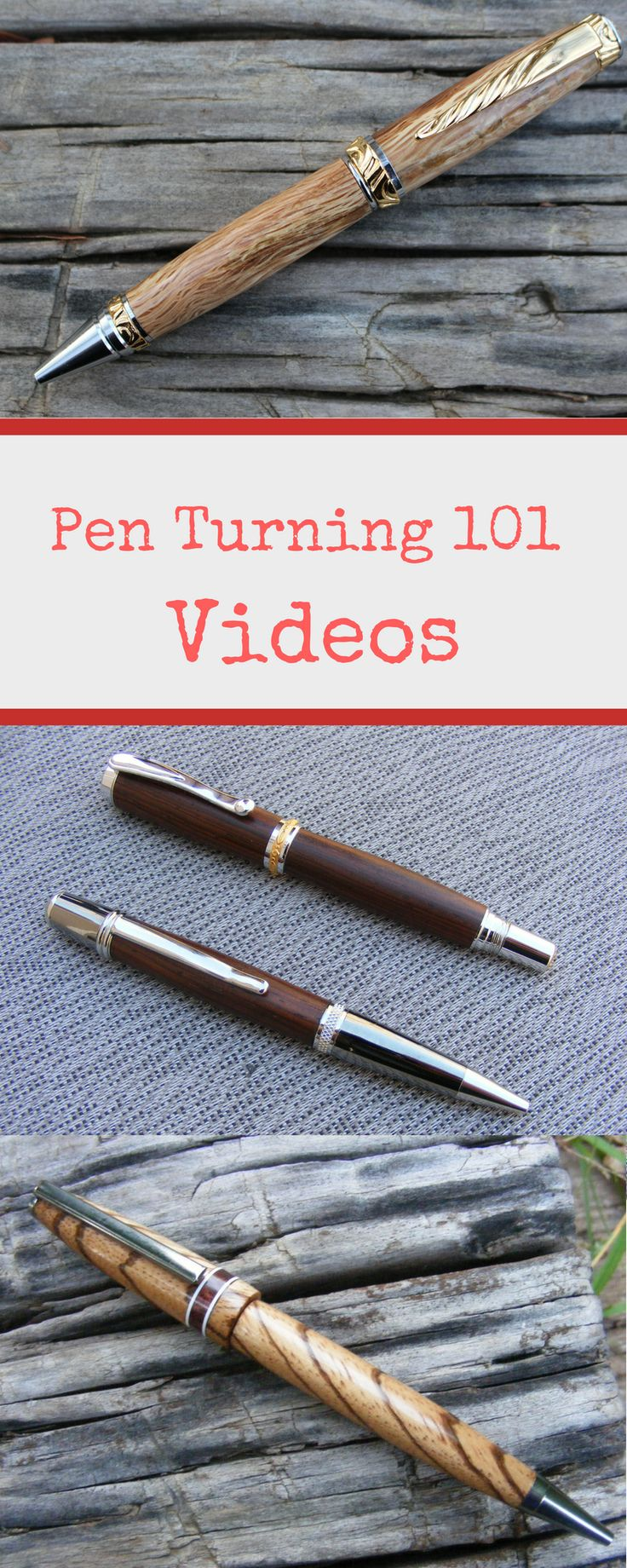 DIY Woodworking Ideas Click on this pin to visit my Pen Turning 101 YouTube playlist. You can watch al...