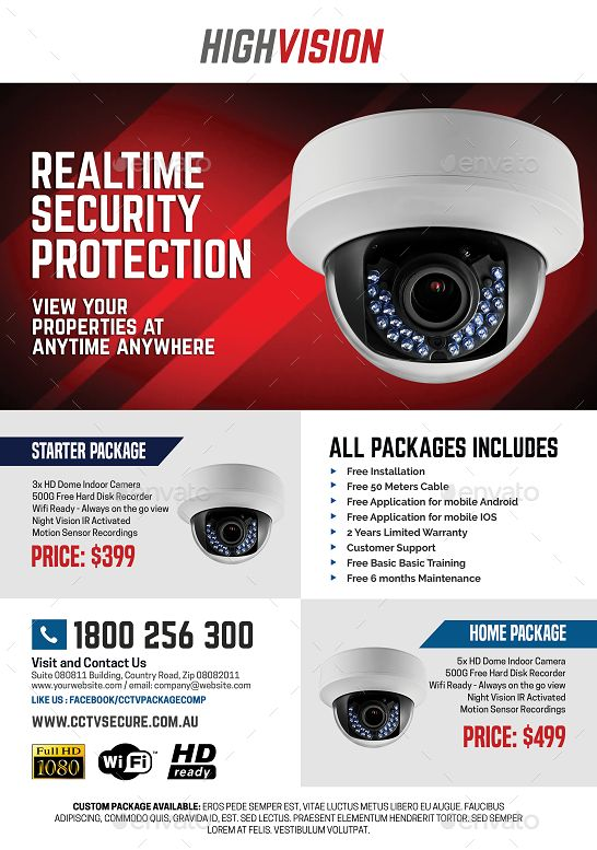 Home And Office Cctv Camera Flyer Office Home Cctv